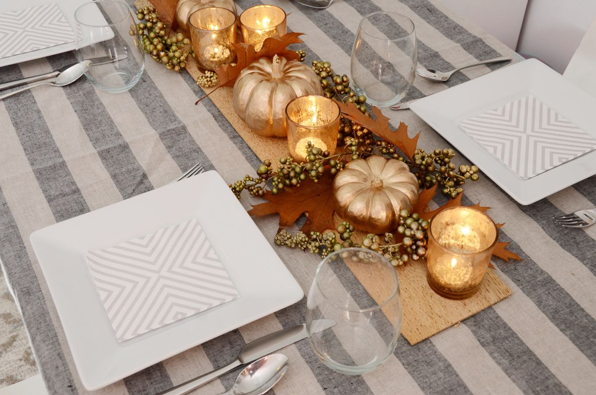 Conception de centre de table de Thanksgiving bricolage