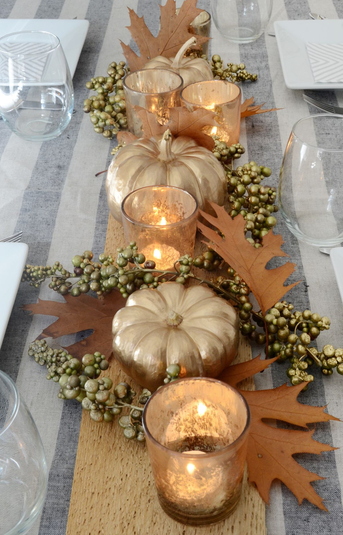 Centre de table de Thanksgiving bricolage moderne