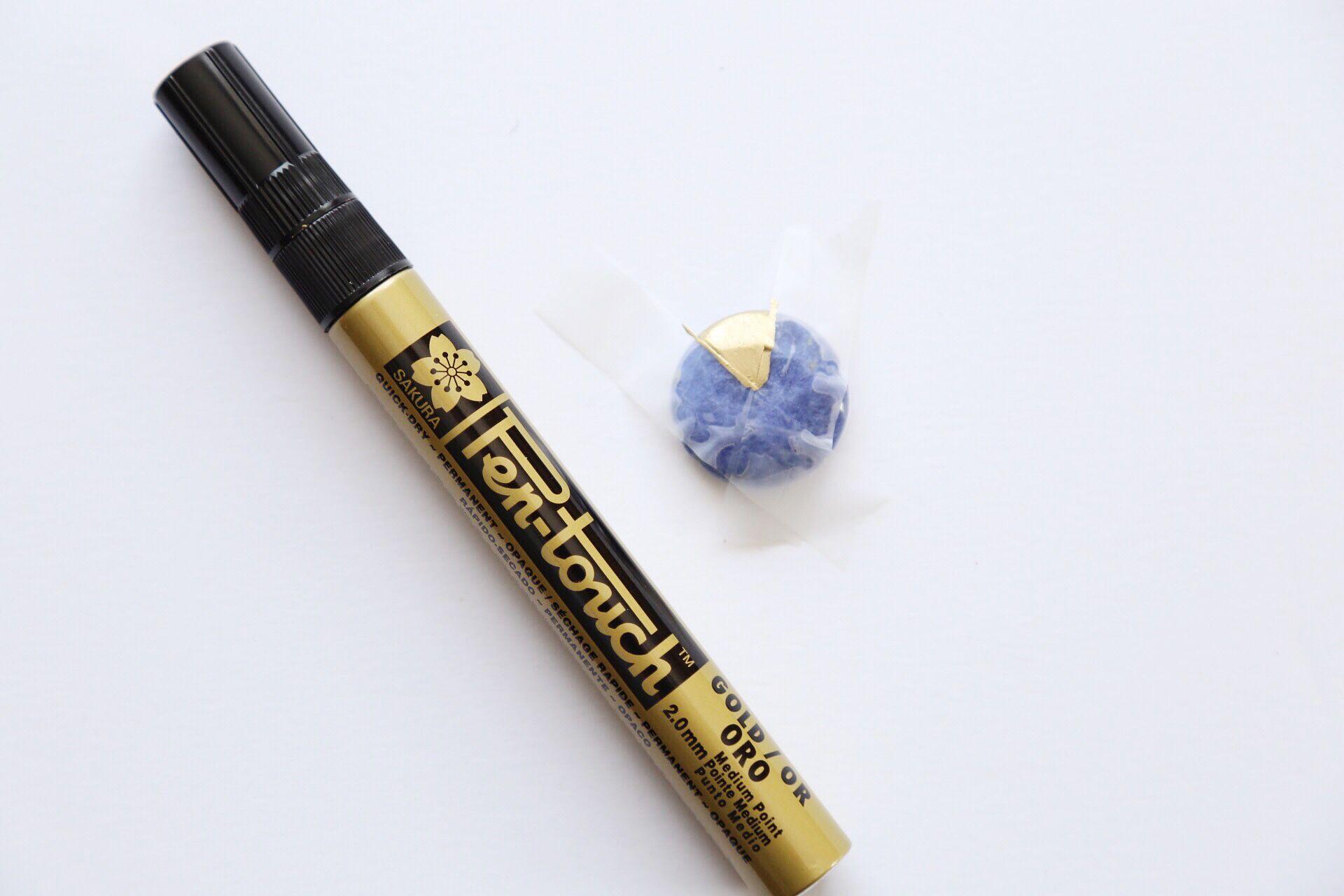 Marqueur de peinture de bracelet de pierre de bloc de couleur de bricolage
