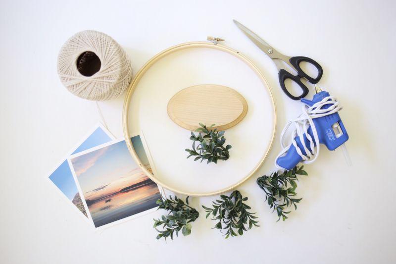 Matériaux bricolage affichage de photos florales
