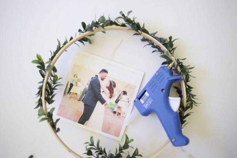 Affichage de photos florales bricolage Step7