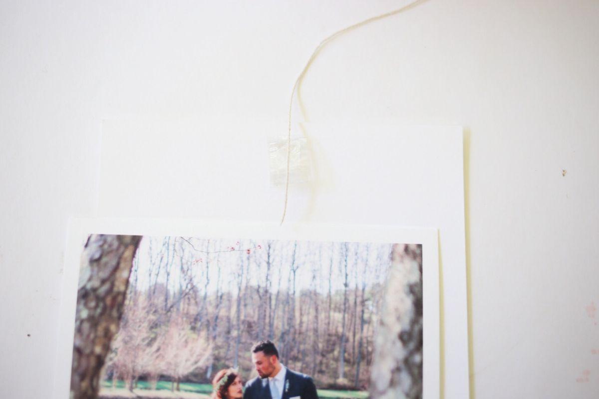 Affichage de photos florales bricolage Step6