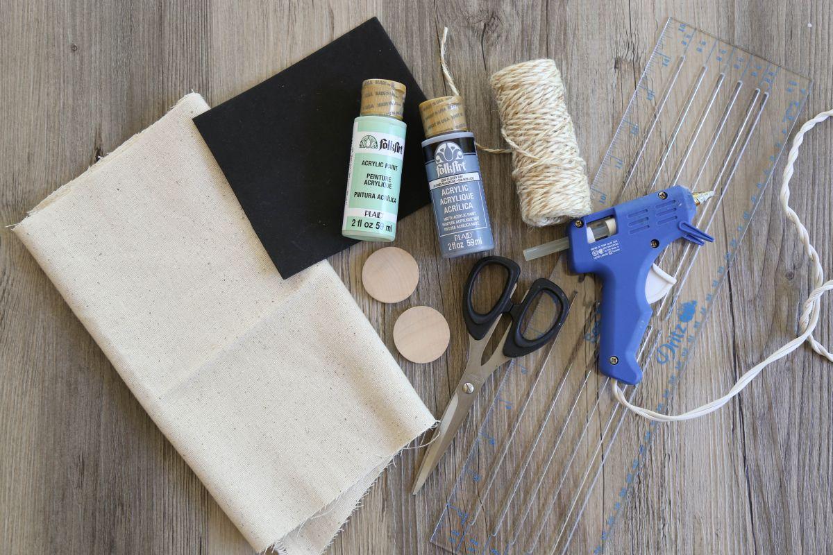 Matériaux de sacs de faveur peints de bricolage