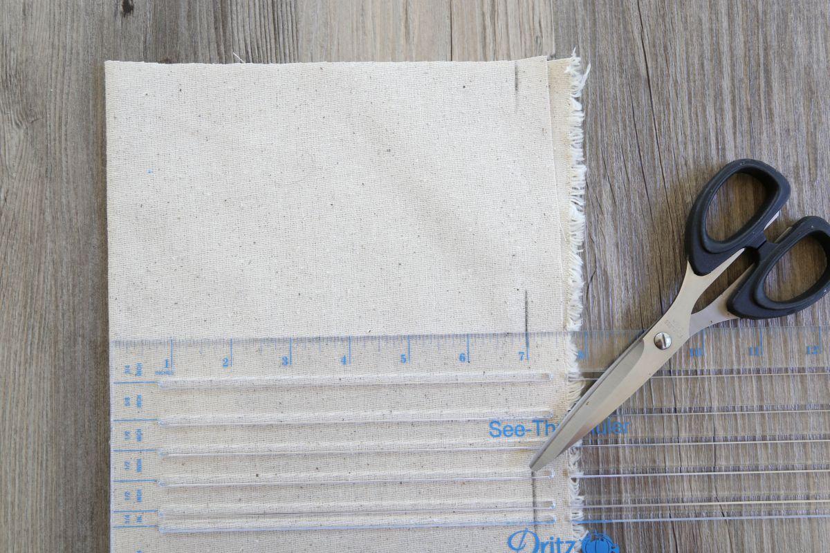 Sacs de faveur peints bricolage - Tissu mousseline