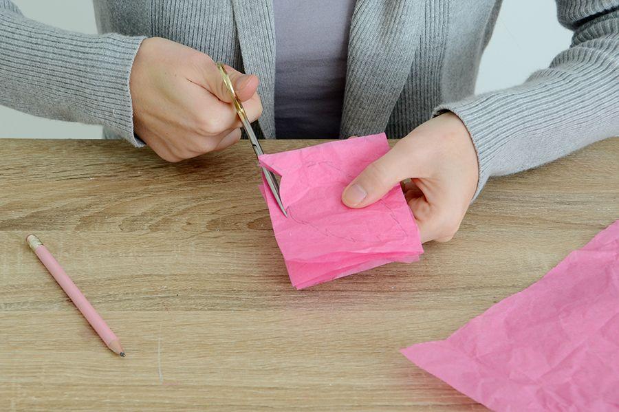 Bricolage papier de soie feuille citrouille large bande de tissu