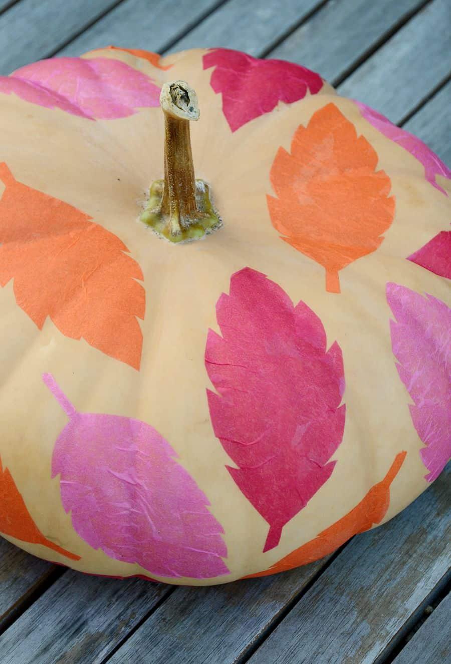 Décor de citrouille feuille de papier de soie bricolage