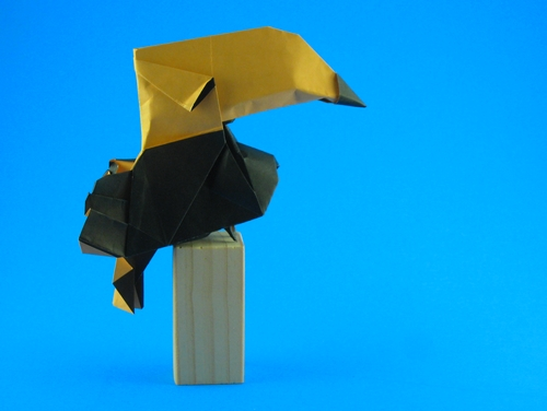Toucan en origami