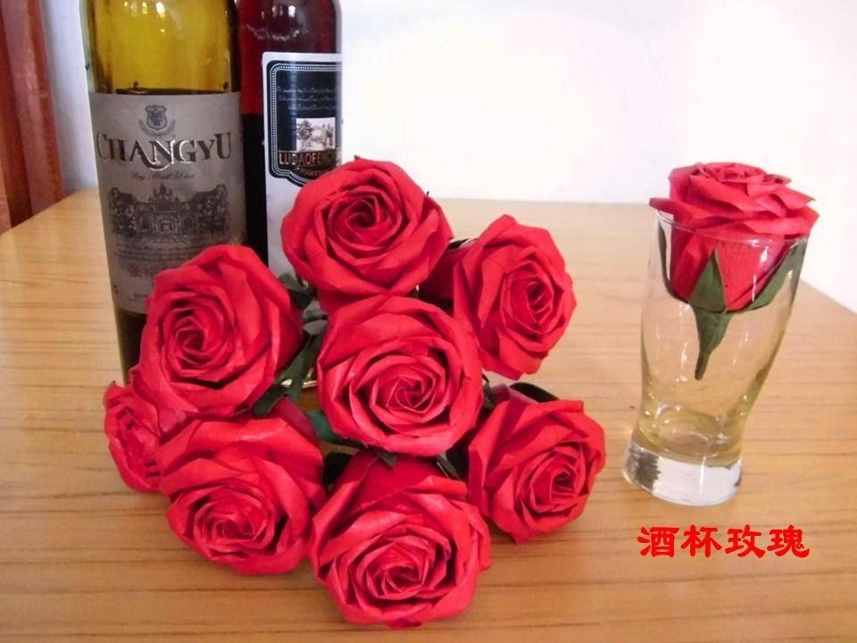 Roses origami avancées