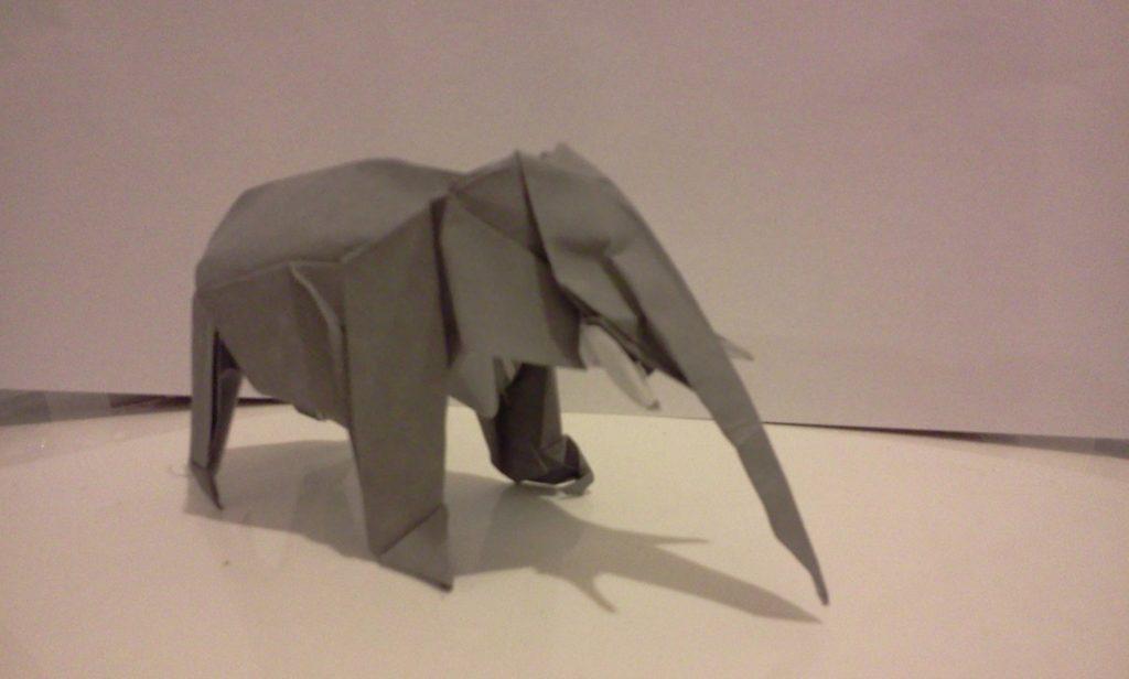 Éléphant avancé