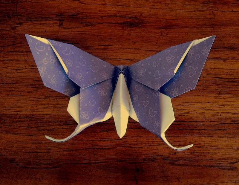 Papillon origami avancé