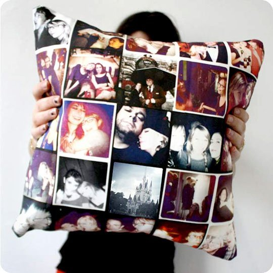 Bricolage Photo Collage PIllow