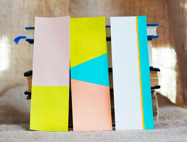 Marque-pages DIY Color Block