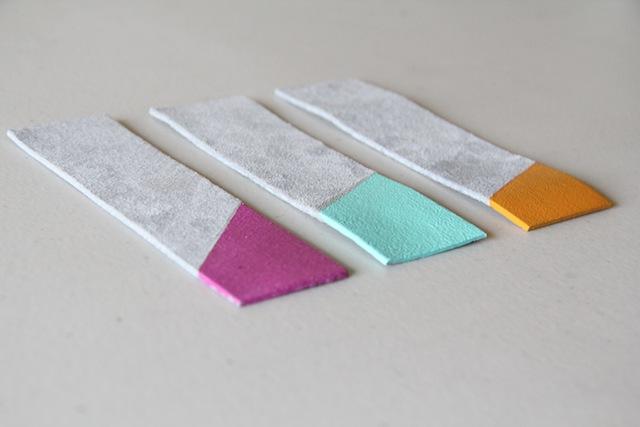 Marque-pages en cuir bricolage
