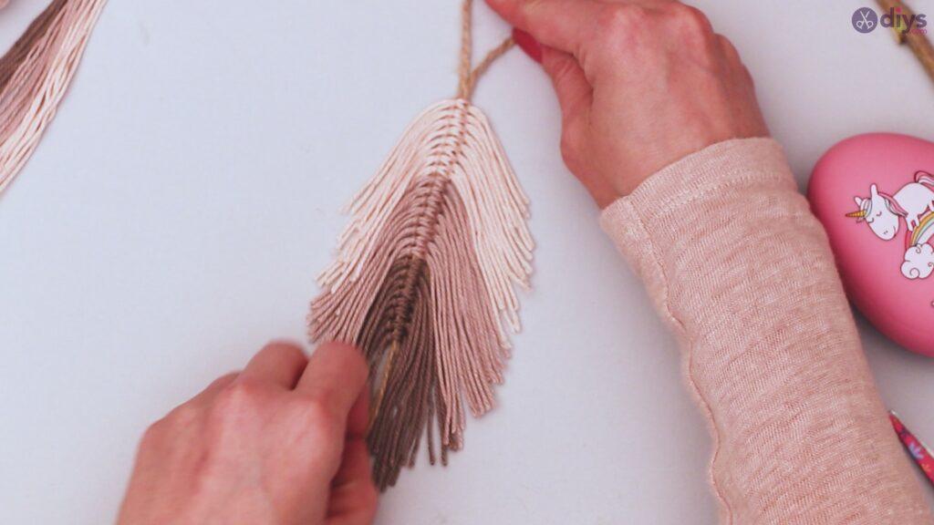 Tutoriel de décoration murale feuille de fil de bricolage (30)