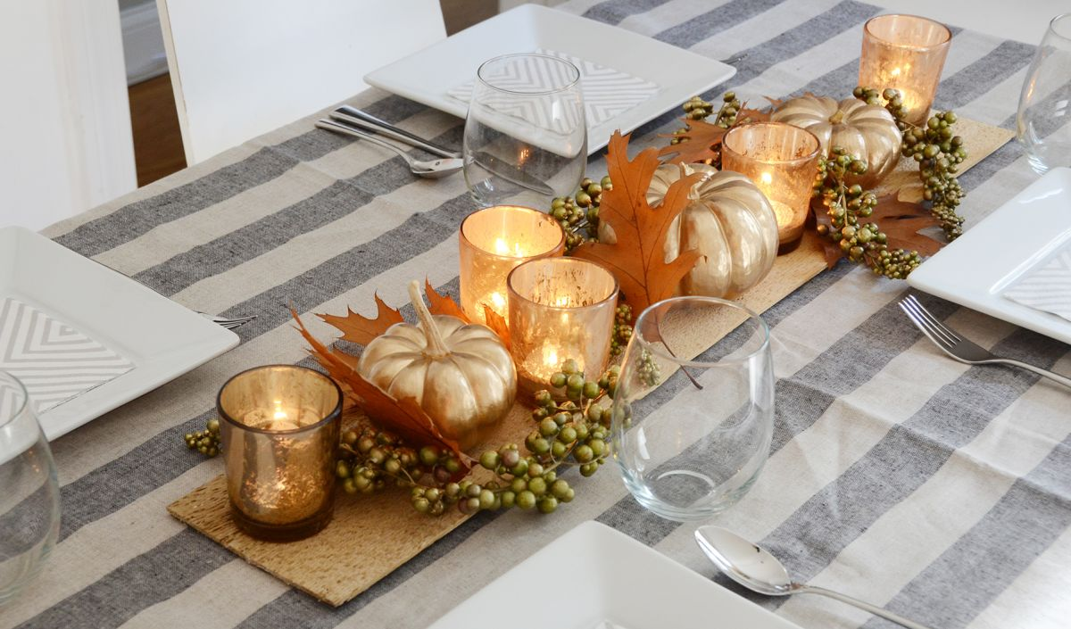 Décor de table de Thanksgiving