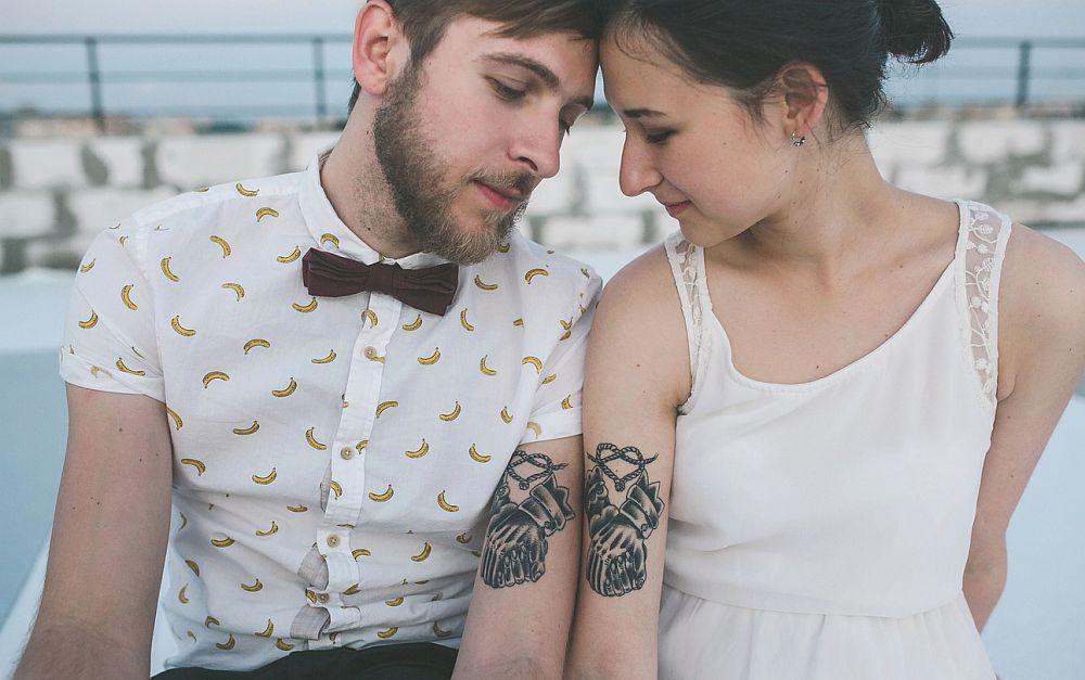 Idées de tatouages de mariage - beau couple