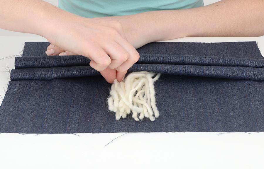 Housse de coussin à franges bricolage Boho 6