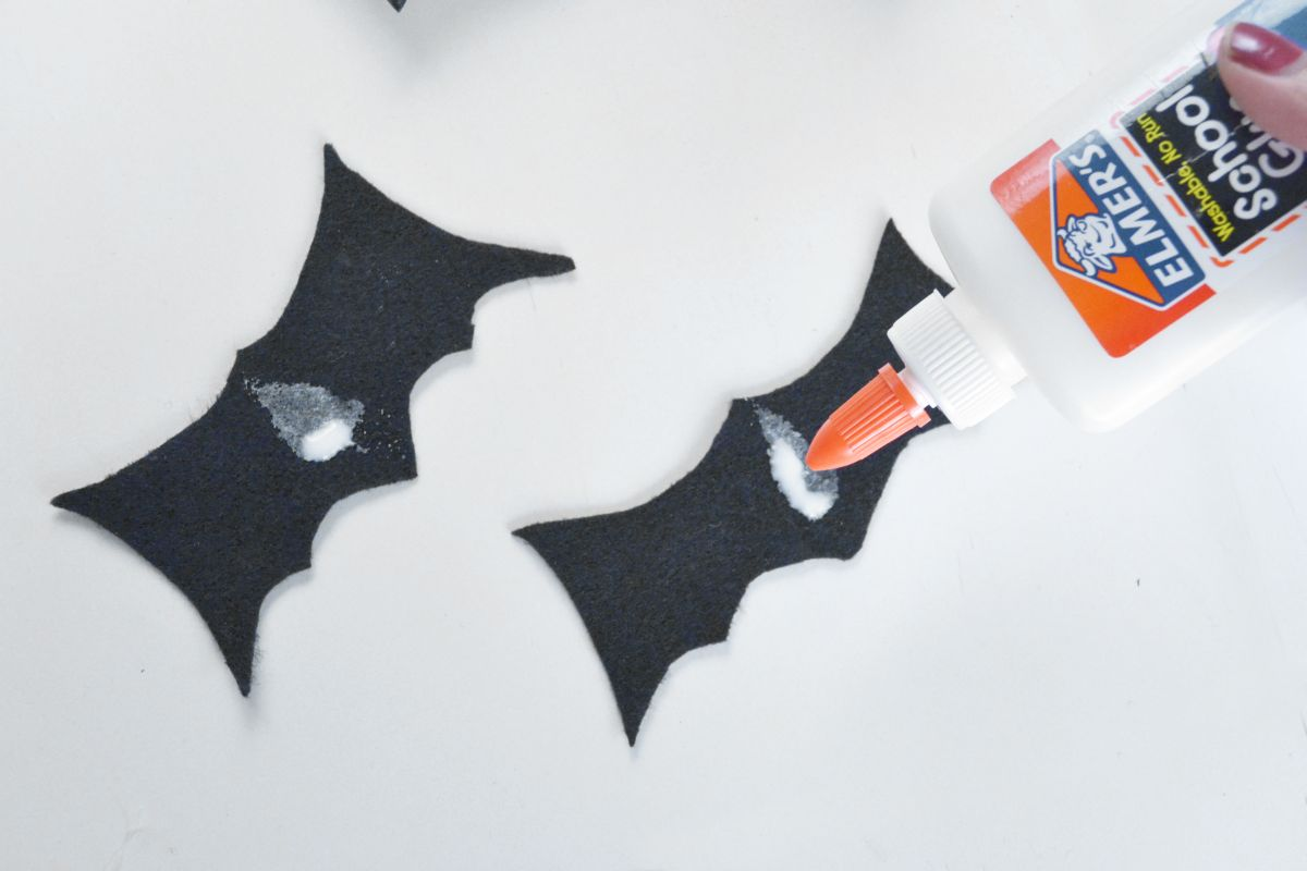 Halloween Bat Candy Pochettes Centre de colle