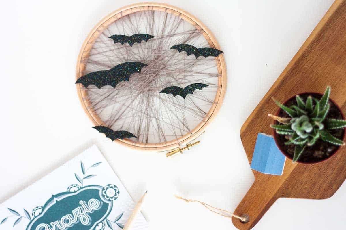Cerceau de broderie bricolage pour Halloween