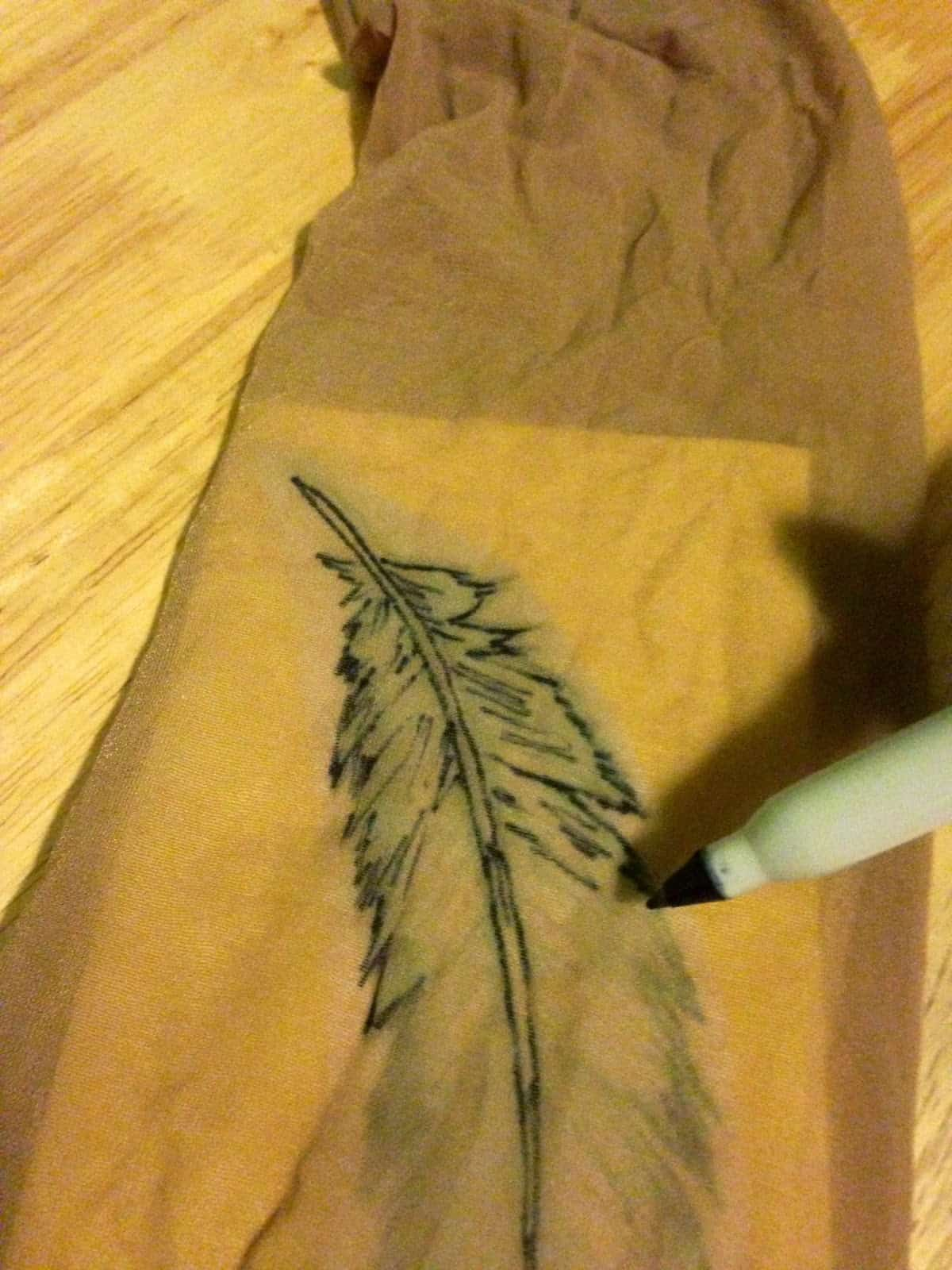 Manchon de tatouage en nylon tracé
