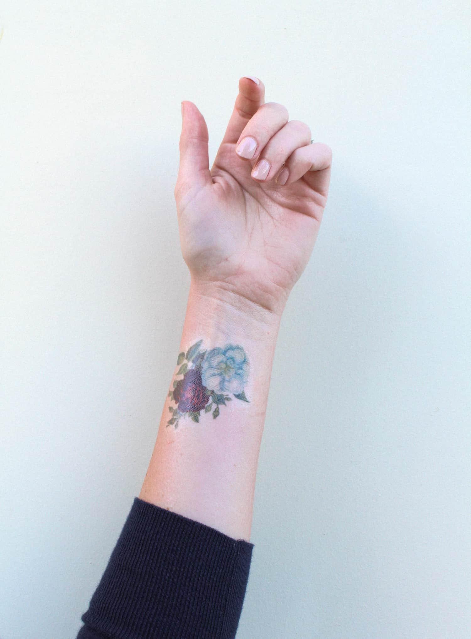 Tatouages de fleurs imprimables