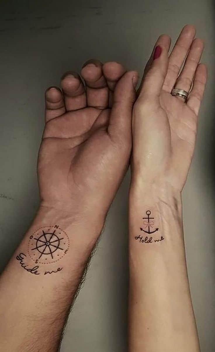 Guide-moi, tiens-moi, tatouages de mariage