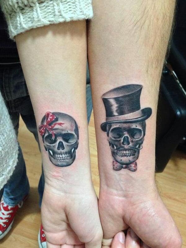 Idées de tatouage de mariage Jolly Roger