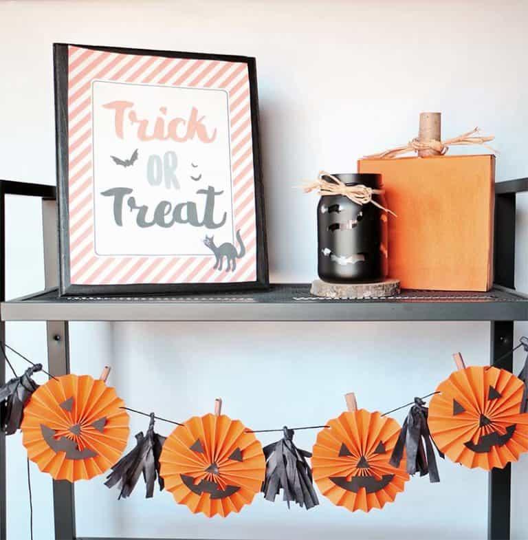 Guirlande de citrouille Rosette DIY pour Halloween