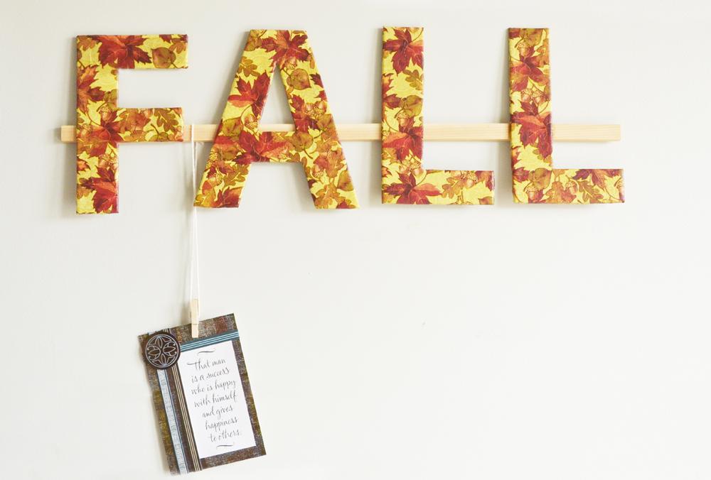 Décoration murale d'automne 14