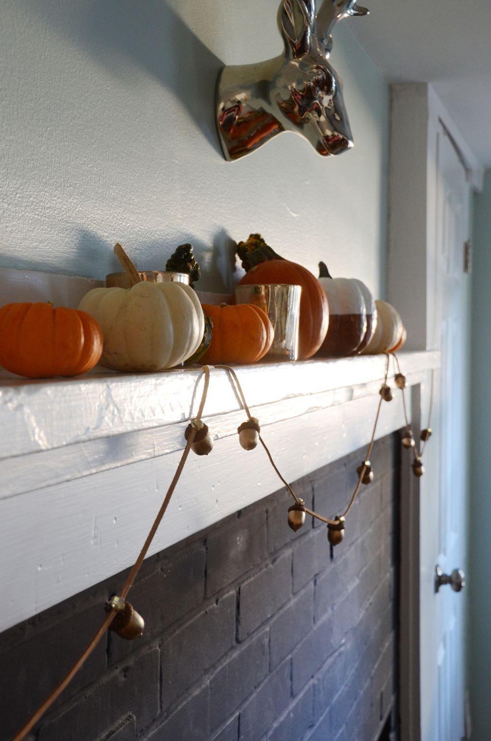 Guirlande de gland de Thanksgiving pour cheminée