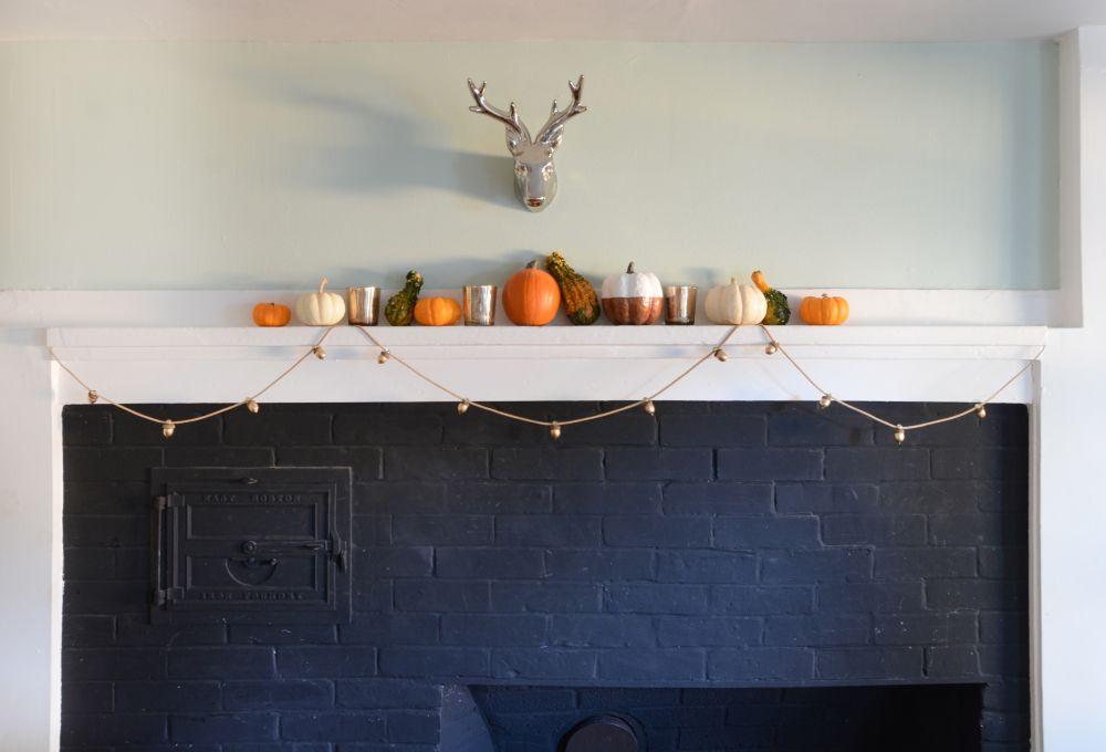 Projet de guirlande de gland de Thanksgiving