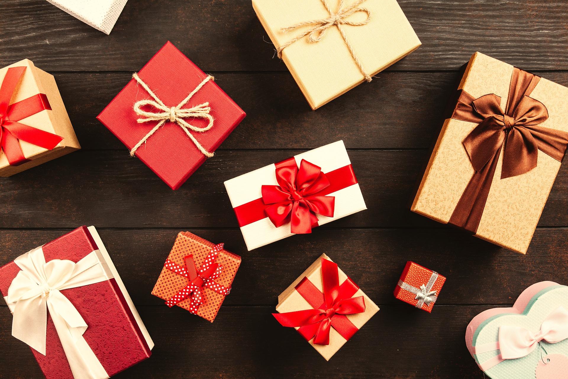 emballage de cadeaux de Noël