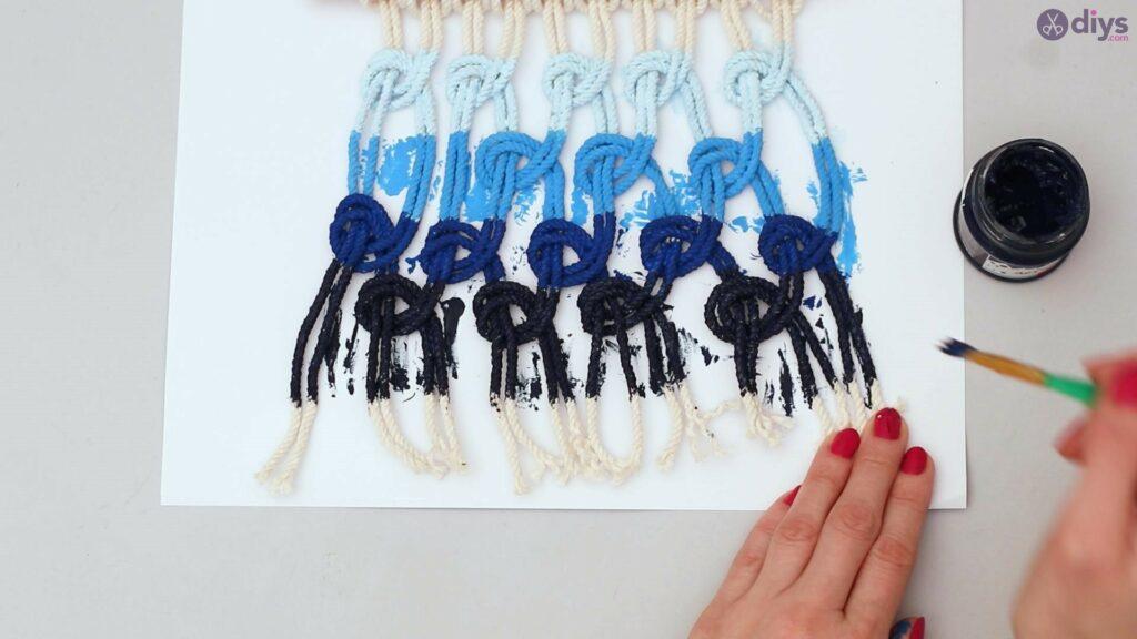 Tenture murale en macramé Ombre (40)