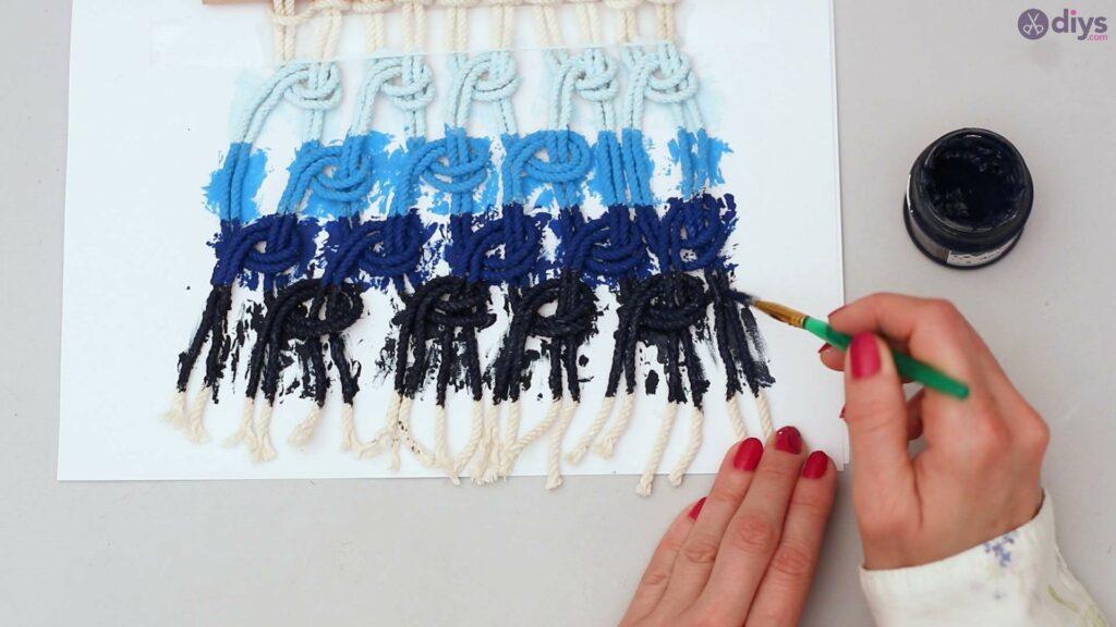 Tenture murale en macramé Ombre (35)