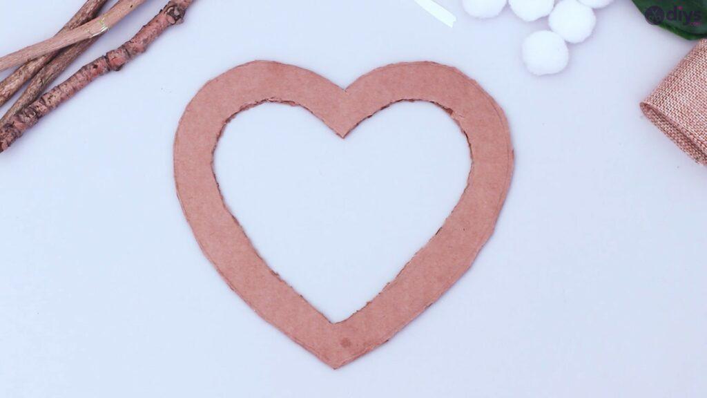 Déco murale coeur brindille rustique (4)