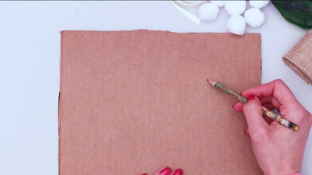 Déco murale coeur brindille rustique (2)