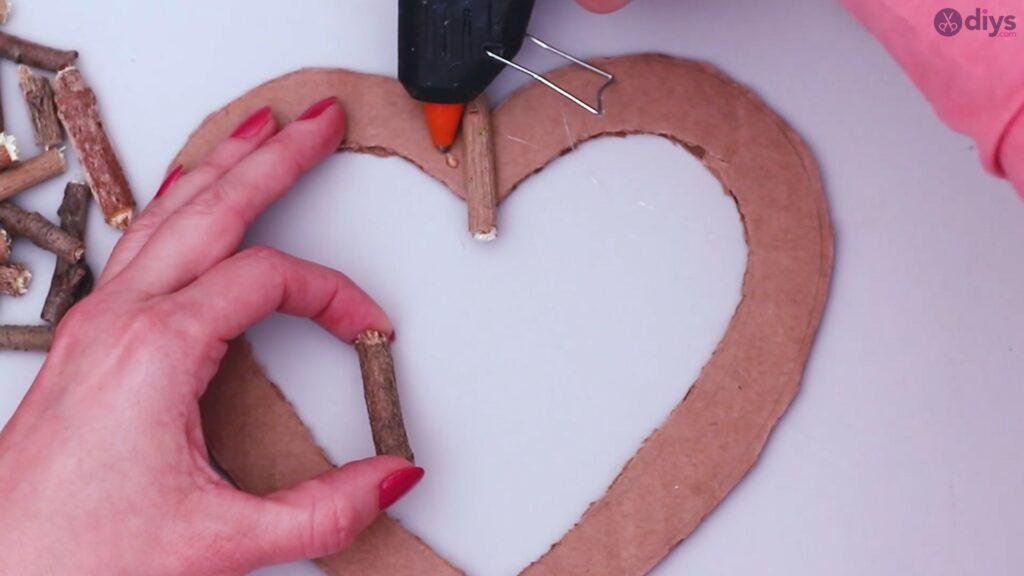 Déco murale coeur brindille rustique (10)