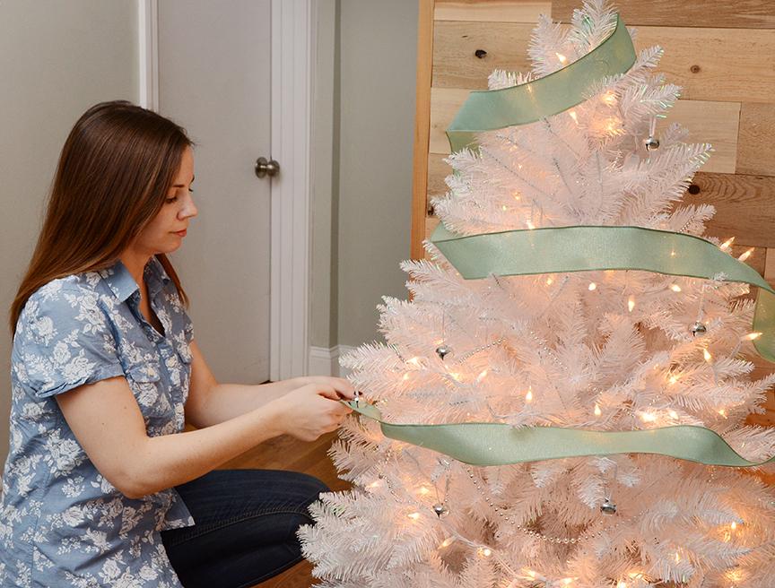 Sapin de Noël blanc vert sauge 5