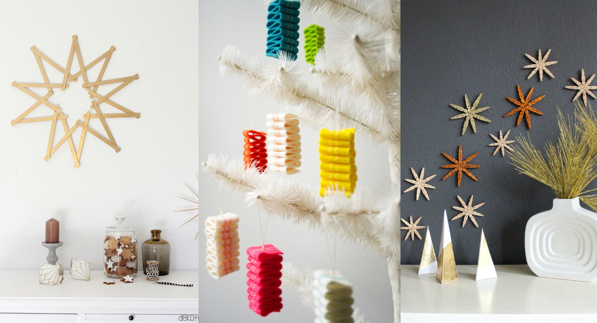 Décorations de Noël faites maison, artisanat original