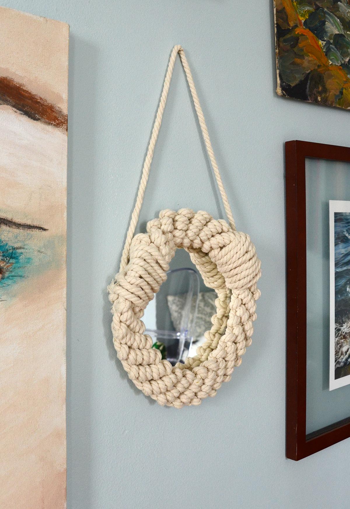 Miroir corde bricolage 8