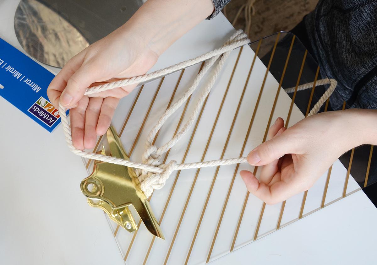 Miroir corde bricolage 3