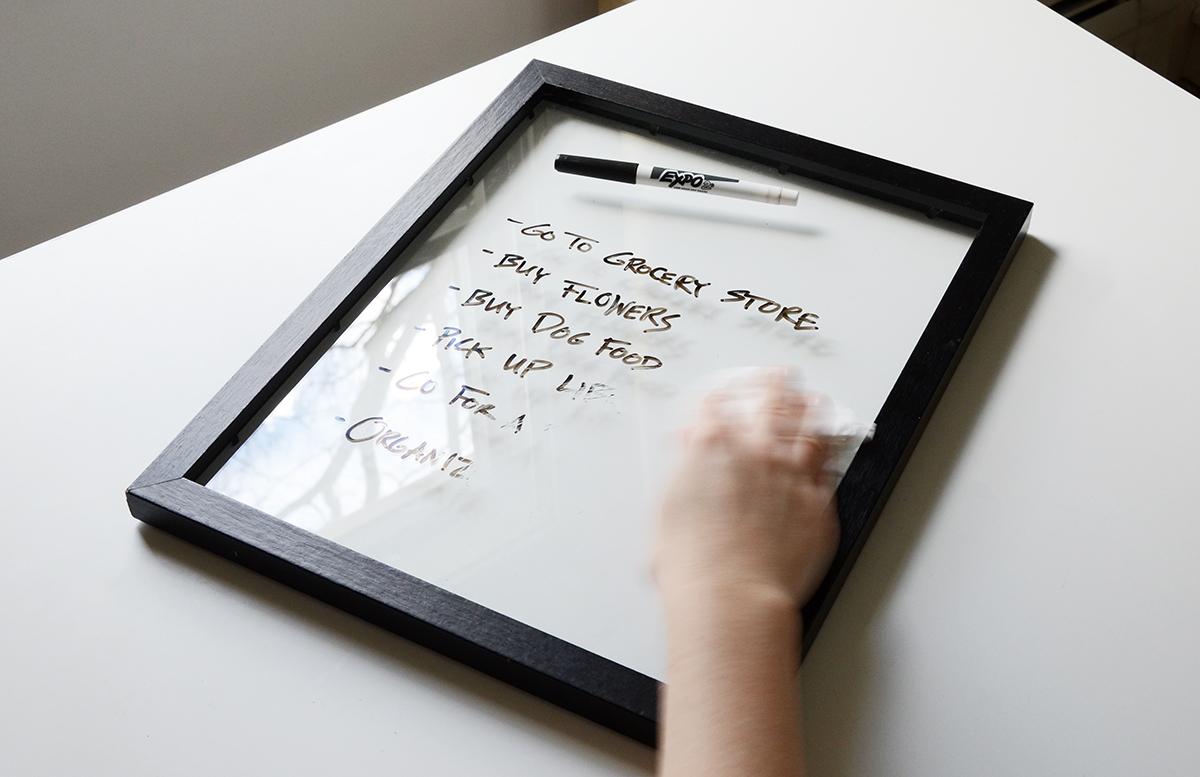 Tableau blanc DIY facile 7