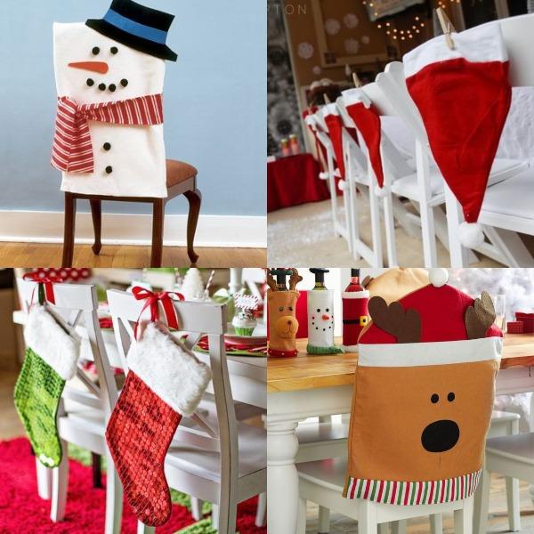 Décoration de chaises pour enfants de Noël