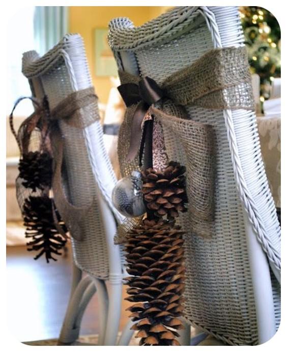Idées de décoration de chaise de Noël