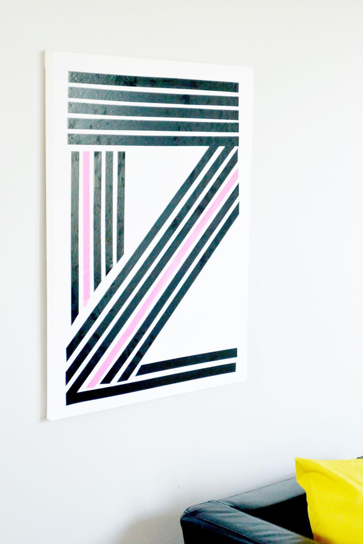 Art linéaire de ruban Washi