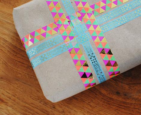 emballage cadeau washi