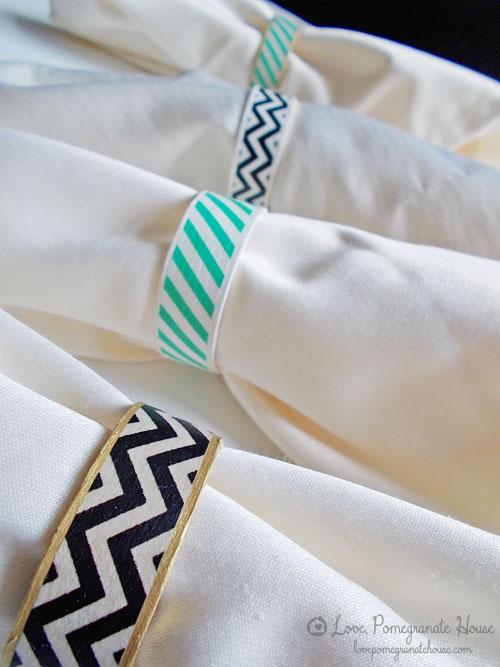 ronds de serviette washi