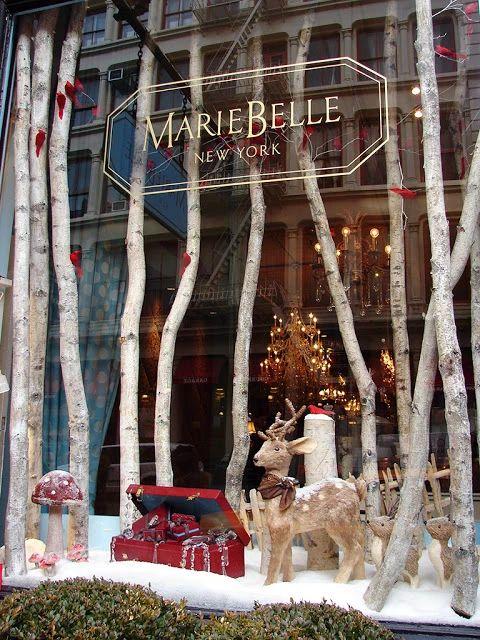 Idées de vitrines de Noël