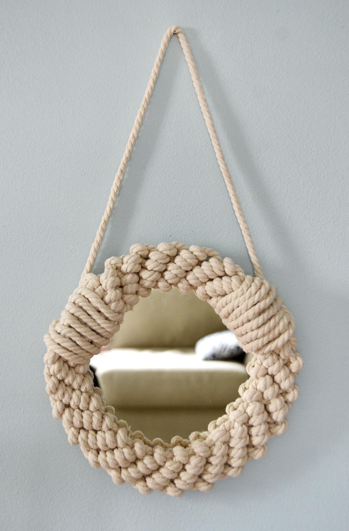 Miroir en corde