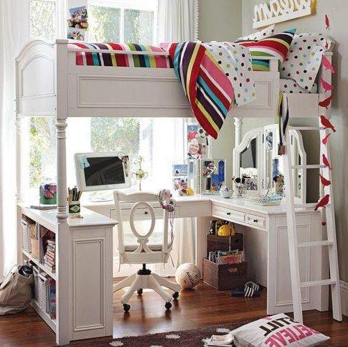 Chambres de jeunes pliantes ou meubles à plusieurs niveaux